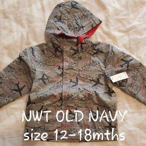 New with Tags Old Navy rain jacket sz 12-18mths